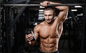 Картинка поза, фигура, muscle, мышцы, muscles, пресс, атлет, Bodybuilding, бодибилдер, abs, weight, bodybuilder, спорт зал