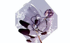 Картинка взгляд, меч, вампир, парень, плащ, Owari no Seraph, Последний серафим