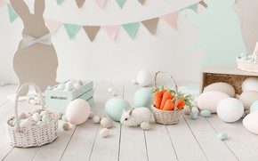 Картинка праздник, яйца, кролик, пасха