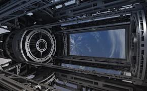 Картинка небо, космос, капсула