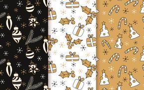 Картинка фон, игрушки, текстура, christmas, pattern