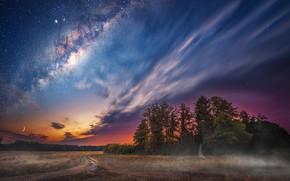 Картинка пейзаж, ночь, природа, красота