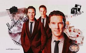 Картинка коллаж, фотоаппарат, мужчина, фотосессия, Бенедикт Камбербэтч, Benedict Cumberbatch, британский актер, by happinessismusic