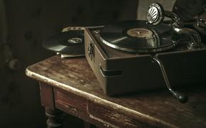 Картинка музыка, пластинка, патефон