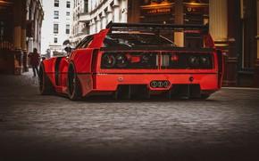 Картинка Красный, Авто, Машина, Red, Car, Рендеринг, Спорткар, Sportcar, Ferrari F-40, Transport & Vehicles, Rostislav Prokop, …