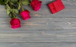 Картинка подарок, розы, букет, красные
