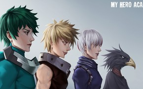 Картинка фон, группа, парни, My Hero Academia, Boku No Hero Academia, Моя Геройская Академия
