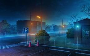 Картинка ночь, город, дороги