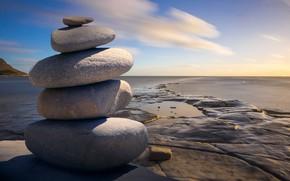 Картинка небо, пейзаж, камни, Природа