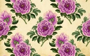 Картинка цветы, текстура, винтаж