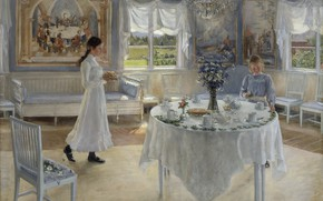 Обои 1902, шведская художница, Фанни Брате, Swedish painter, Fanny Ingeborg Matilda Brate, Фанни Ингеборг Матильда Брате, ...