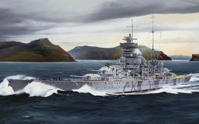 Картинка Германия, Prinz Eugen, кригсмарине, Randall Wilson, Принц Ойген, Адмирал Хиппер, третий тяжёлый крейсер типа «Адмирал …