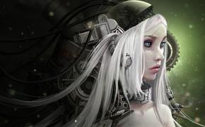 Картинка девушка, робот, киборг