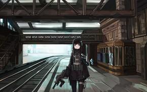 Картинка девушка, оружие, арт