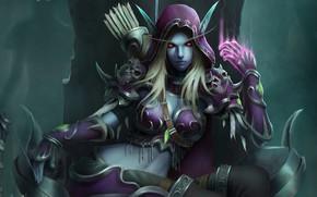 Картинка WOW, Blizzard, Art, World of WarCraft, WarCraft, Сильвана, Sylvanas Windrunner, Fanart, Sylvanas, WarCraft 3, Windrunner, …