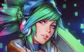 Картинка девушка, портрет, арт, League of Legends, Riven, Лига легенд