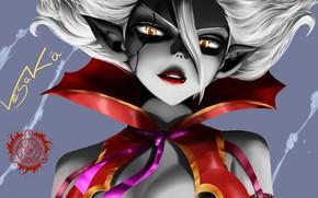 Картинка взгляд, девушка, демон, маг, чародей, волшебник, Fairy Tail, mirajane