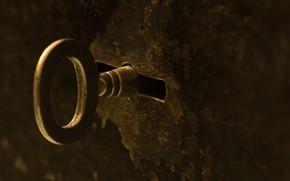 Картинка макро, замок, ключ