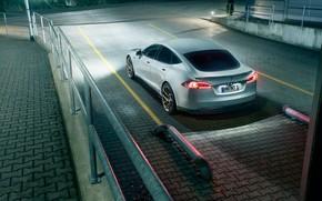 Картинка седан, вид сзади, Tesla, Model S, Novitec, 2017