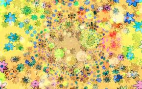 Картинка цветы, красочно, шаблон