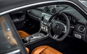 Картинка купе, интерьер, 2018, Jaguar XKR, V8, Speedback, двухдверное, David Brown Automotive, Silverstone Edition, снаружи