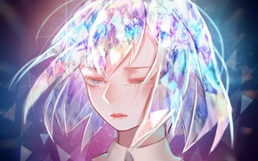 Картинка девушка, блеск, Houseki no Kuni, Страна Самоцветов, самоцвет