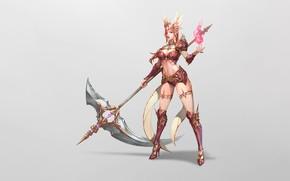Картинка Girl, Mythology, Beautiful, Art, Style, Minimalism, Characters, Armor, Valkyrie, Jangwon Park, Steel arms