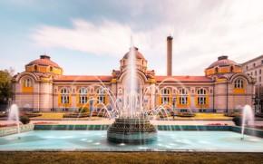 Картинка здание, фонтан, Болгария, Sofia, София, Bulgaria, Центральная минеральная баня, Central Mineral Baths