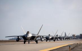 Картинка ПТБ, USAF, Шасси, F-22 Raptor, Elephant Walk, Истребитель