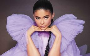 Картинка взгляд, девушка, стрелки, макияж, Kylie Jenner, Interview Magazine