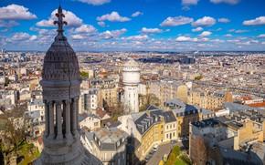Картинка облака, Франция, Париж, здания, сверху