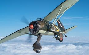 Картинка Облака, Самолет, Винт, RAF, Вторая Мировая Война, Шасси, Westland Lysander, Самолет взаимодействия с войсками, Westland …