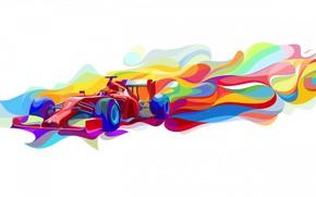 Картинка краски, вектор, Формула 1
