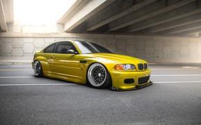 Обои E46, BMW, Wheels, 3 Piece, Pandem, Widebody, CCW, Phoenix, Yellow, Classic