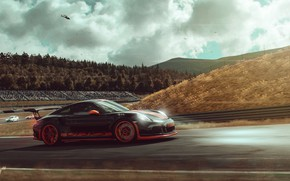 Картинка Авто, 911, Porsche, Машина, Гонка, Car, GT3, Porsche 911 GT3, Спорткар, Game Art, Gran Turismo …
