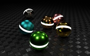 Картинка ball, metal balls, 3d