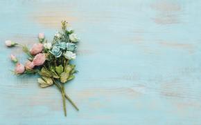 Картинка цветы, фон, розы, colorful, бутоны, wood, flowers, roses, bright