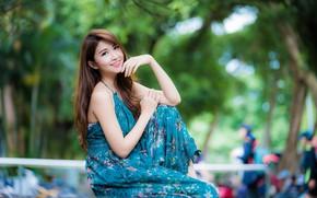Картинка девушка, улыбка, азиатка, милашка