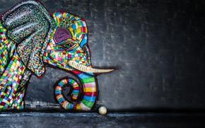 Картинка граффити, мяч, слон