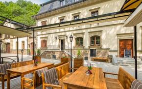 Картинка город, улица, Чехия, ресторан, Carlsbad, largest summer terrace