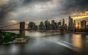 Картинка Brooklyn, Нью-Йорк, мост, Бруклин