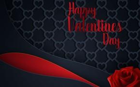 Картинка любовь, линии, фон, роза, сердечки, love, красная, день валентина, hearts