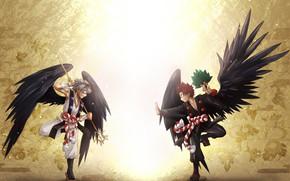 Картинка крылья, парни, My Hero Academia, Boku No Hero Academia, Моя Геройская Академия