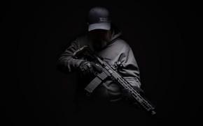 Картинка оружие, фон, мужчина, штурмовая винтов