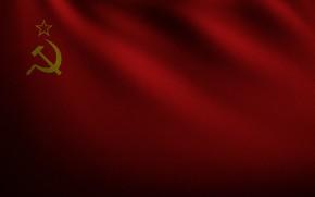 Картинка красный, флаг, ссср, серп и молот, развевающийся, флаг ссср
