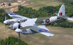 Картинка RAF, Вторая Мировая Война, Ночной истребитель, Mosquito, de Havilland Aircraft Company, de Havilland DH.98 Mosquito
