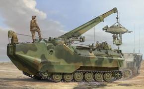 Картинка США, Vincent Wai, амфибия, US NAVY, AAV-7, БРЭМ, Assault Amphibian Vehicle Recovery, AAVR-7A1