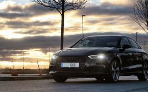 Картинка Audi, Ауди, Прага, Аэропорт, Audi A3, Prague, Facelift, Audi A3 sedan, Ауди А3, A3 Sedan, …