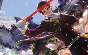 Обои меч, парень, Owari no Seraph, последний серафим, Юичиро Хакуя, Гурен