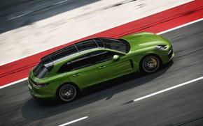 Картинка скорость, Porsche, 2018, Panamera GTS Sport Turismo